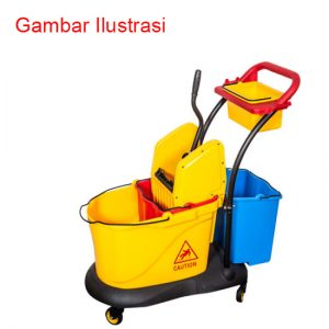 Down-Press Double Mop Wringer Trolley