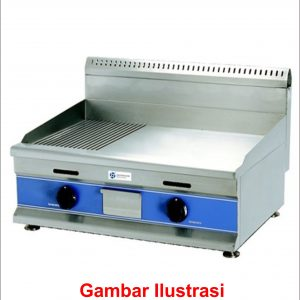Gas Half-Grooved Griddle