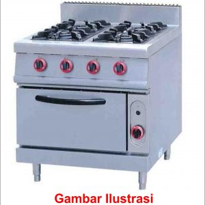Gas Range Stove 4 Burner With Oven